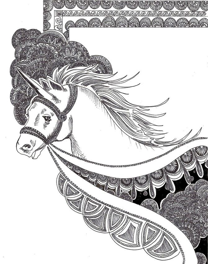 Licorne dessins pinterest licornes coloriage et - Dessins anti stress ...