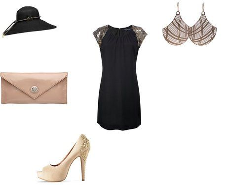 French Connection Black Dresses  Vince Camuto Heels  Mimco Clutches  Mimco Hats