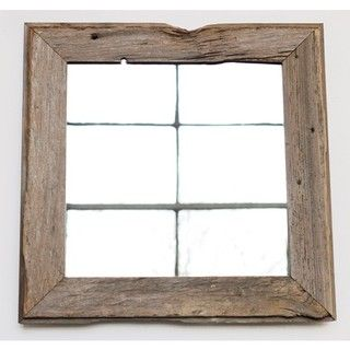 Gorgeous handmade barn wood mirror. Each piece is totally unique.