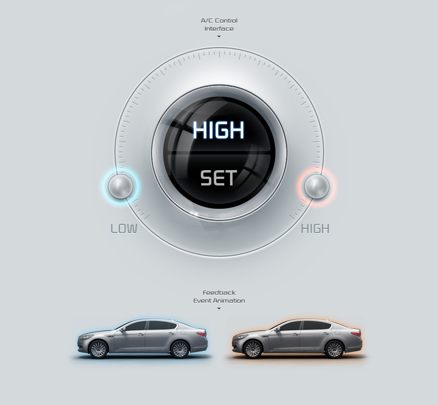 KIA UVO- e-Service Mobile App | hmi | Car ui, Ui design, Car