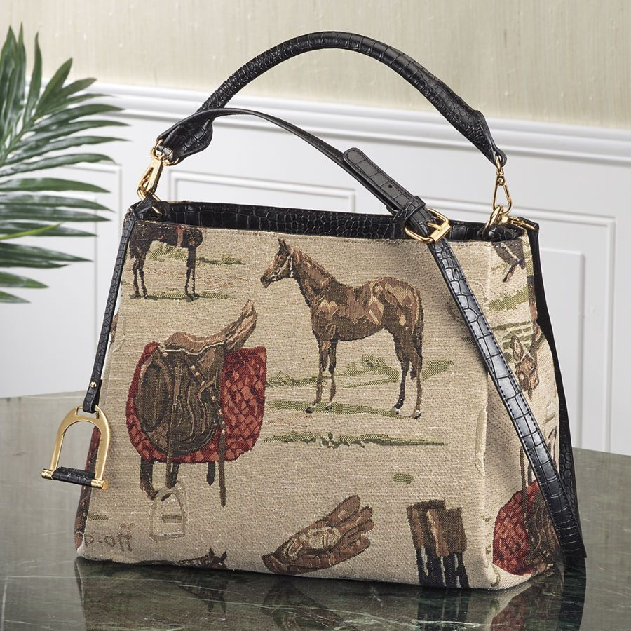 Classic rider tapestry bag western wear equestrian inspired