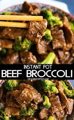 Want a quick & easy pressure cooker recipe that has dinner on the table in just 35 minutes? Check out this delicious Instant Pot Beef Broccoli! So good! #instantpot #beefbroccoli #pressurecooker #dinner #30minutedinner #maindish #chinesefood #beef #instantpotrecipes