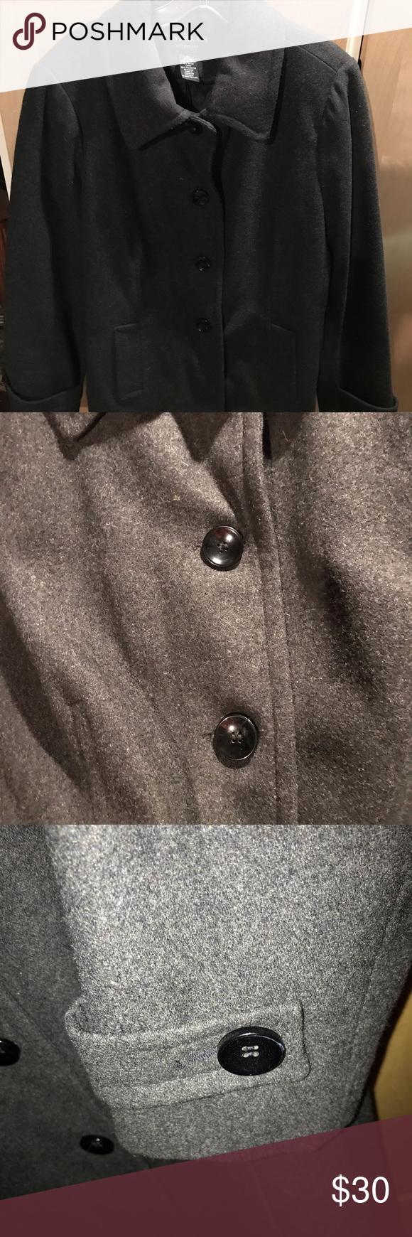 Centigrade Womans 60 Percent Wool Gray Jacket Lg Gray Jacket Dark Grey Coat Colorful Coat [ 1740 x 580 Pixel ]