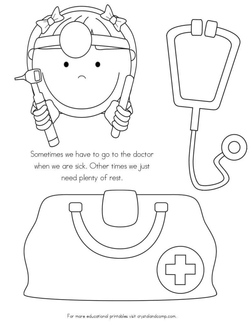 No More Spreading Germs Coloring Pages For Kids Kindergarten Worksheets Doctor For Kids Coloring For Kids