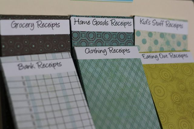 organize your receipts