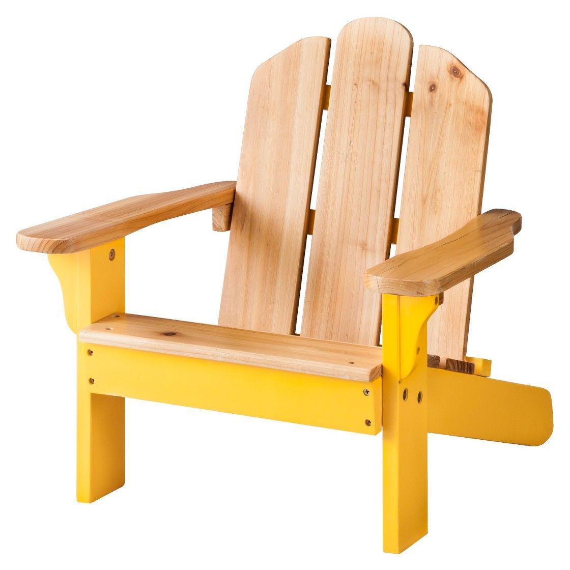 Room essentials kids wood patio adirondack chair yellow