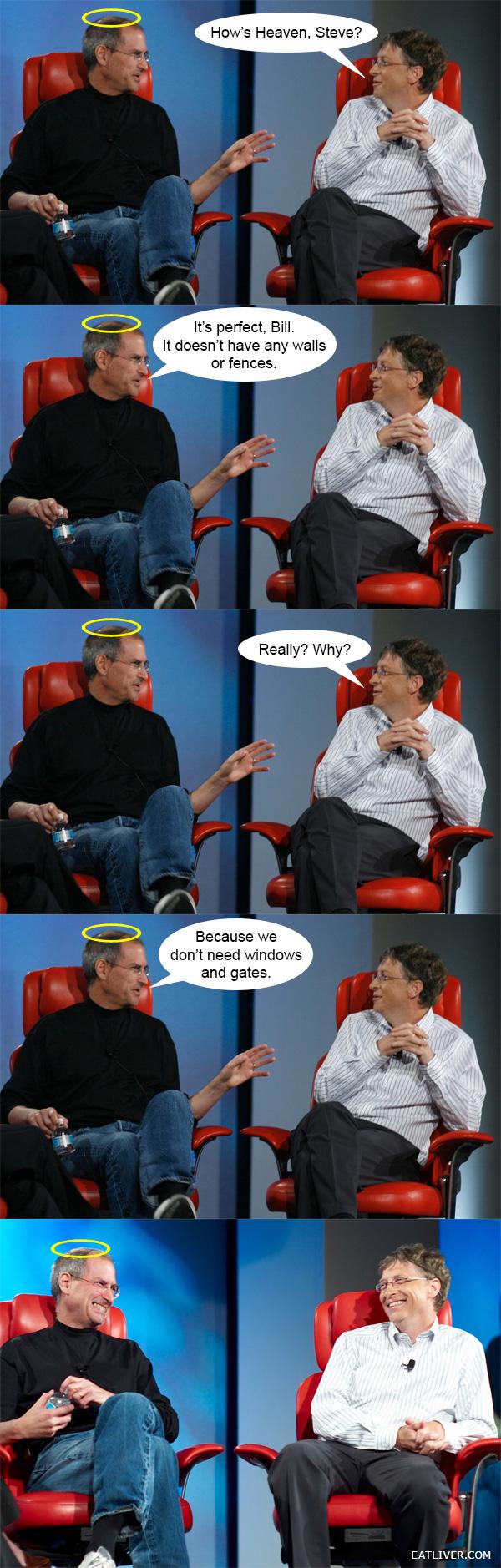 How's Heaven, Steve? Steve jobs, Best funny pictures