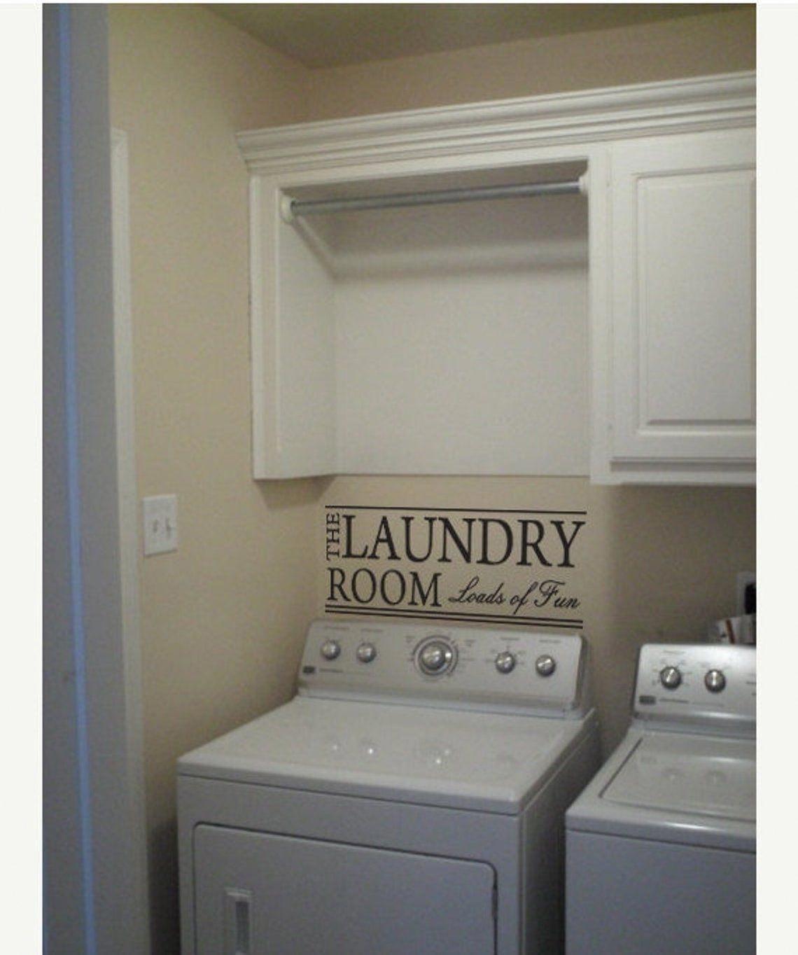 laundry room vinyl decal home wall decor laundry room on laundry room wall covering ideas id=48559