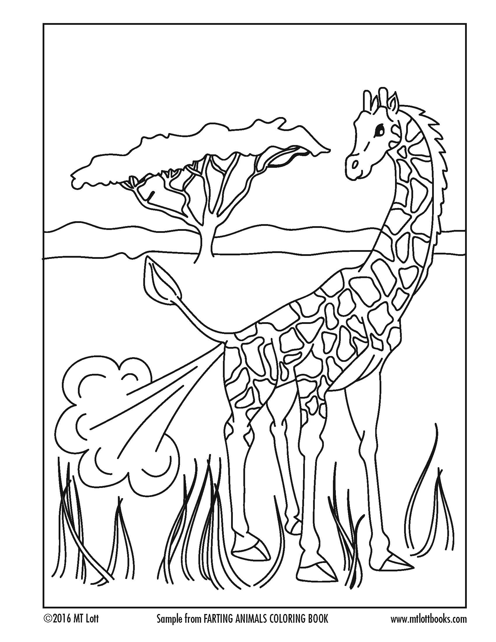 Free Coloring Page From M T Lott S Farting Animals Coloring Book Animal Coloring Pages Animal Coloring Books Coloring Pages