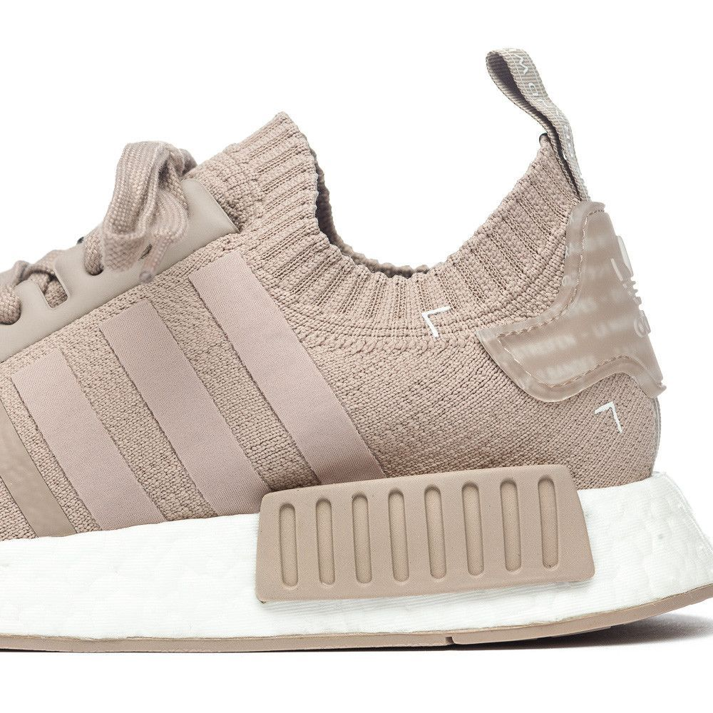 a0ae1548f adidas NMD R1 Primeknit in Beige Vapour Grey Mid Closeup