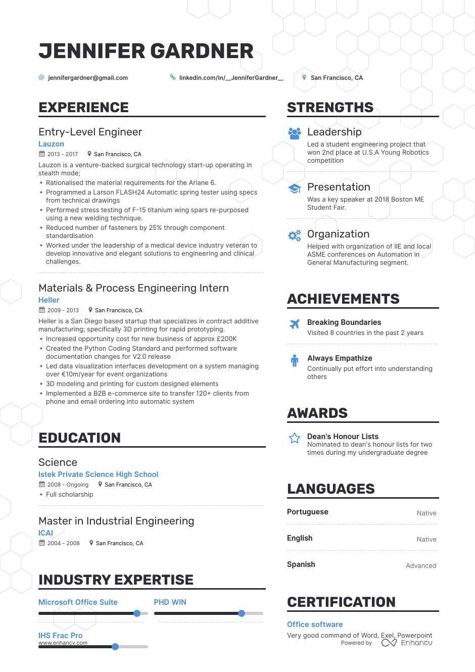 The Best Entry Level Engineer Resume Examples & Skills to