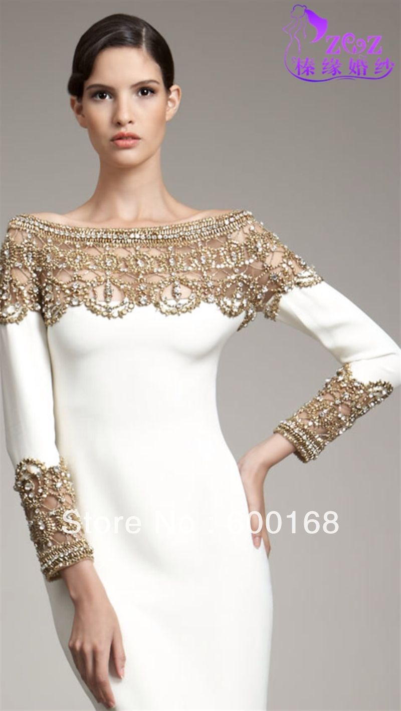 white and gold long sleeve prom dresses « Bella Forte Glass Studio ...