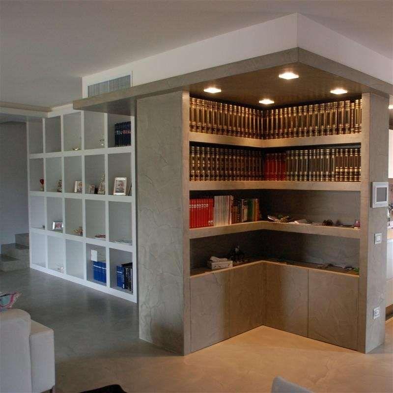 Libreria divisoria in cartongesso yz52 regardsdefemmes - Porta su parete cartongesso ...