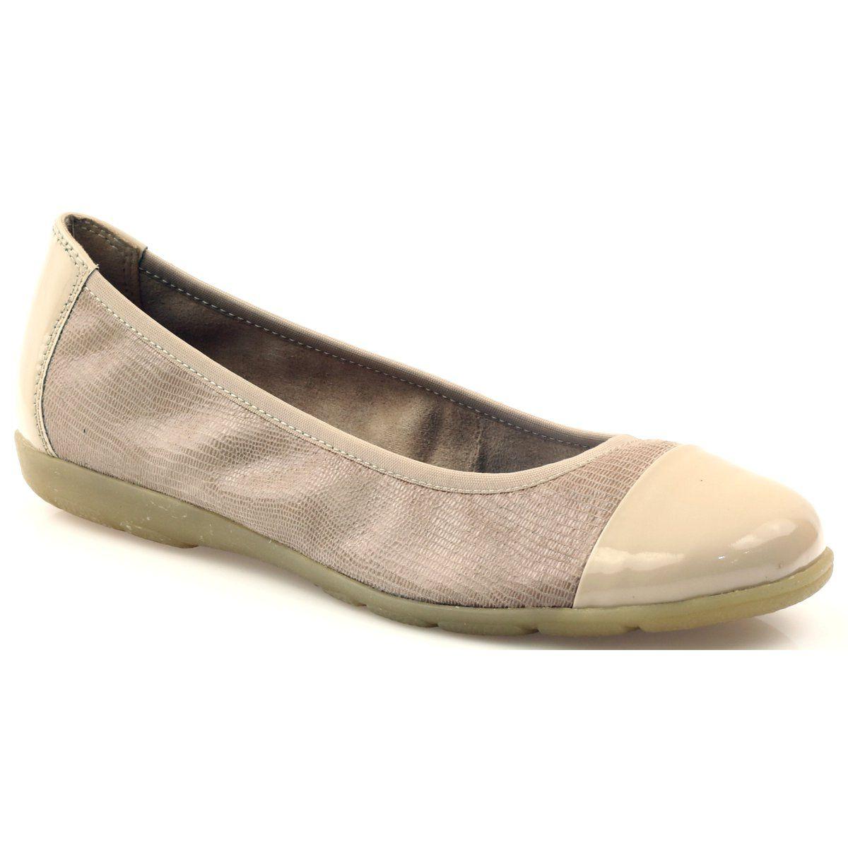 Balerinki Damskie Caprice Brazowe Balerinki Lakierowany Nosek Caprice 22152 Shoes Flats Fashion