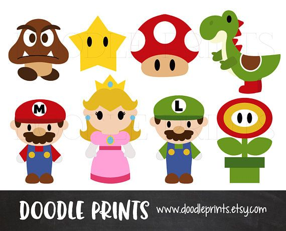 hello and welcome to doodle prints for one low price you will have all these - Super Mario Pictures To Print