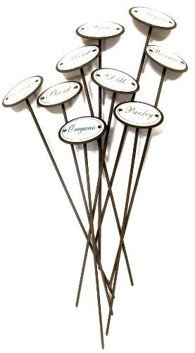 Twou0027S Company Metal Herb Garden Markers, Set Of 9 Twou0027s Company Http://