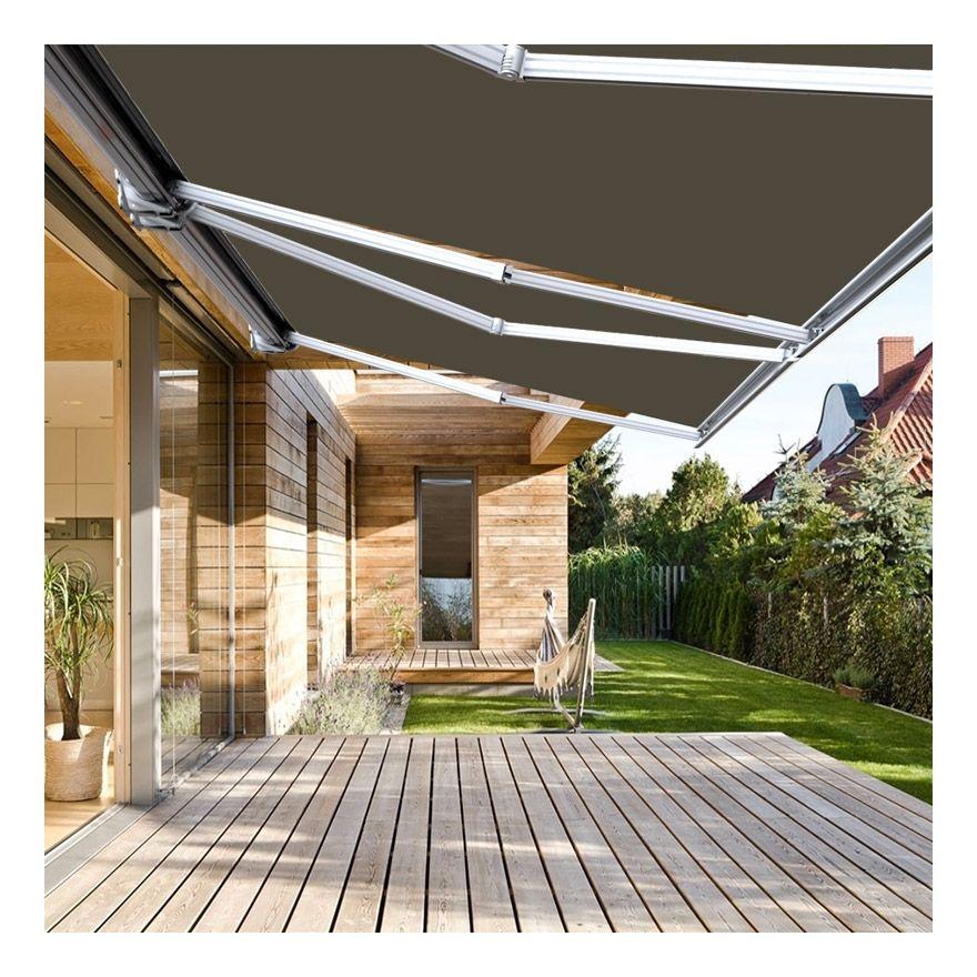 Store Banne Exterieur Coffre Integral Motorise Et Manuel Pour Terrasse Taupe 3 5 X 3 M Sunny Inch In 2020 Outdoor Outdoor Decor Terrace