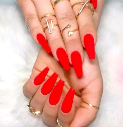 47 ideas nails acrylic red simple for 2019 nails  red