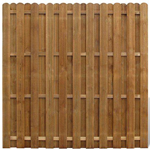 Vidaxl Panneau De Cloture Avec Planches Intercalees Bois Fsc