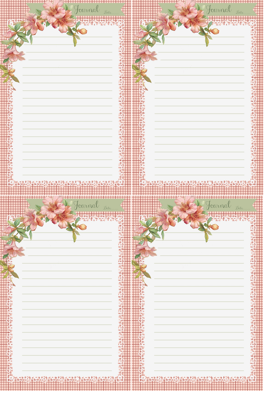pink hibiscus stationary and journal cards do it yourself today