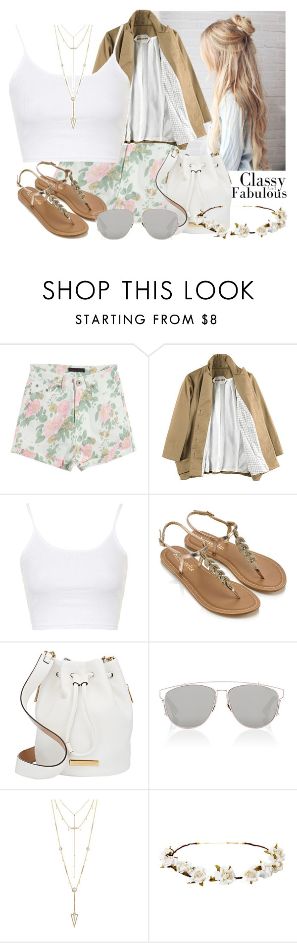 """#106 Spring Summer Floral"" by beautybluebear ❤ liked on Polyvore featuring Mischen, Topshop, Accessorize, Marc by Marc Jacobs, Christian Dior, House of Harlow 1960 and Cult Gaia"