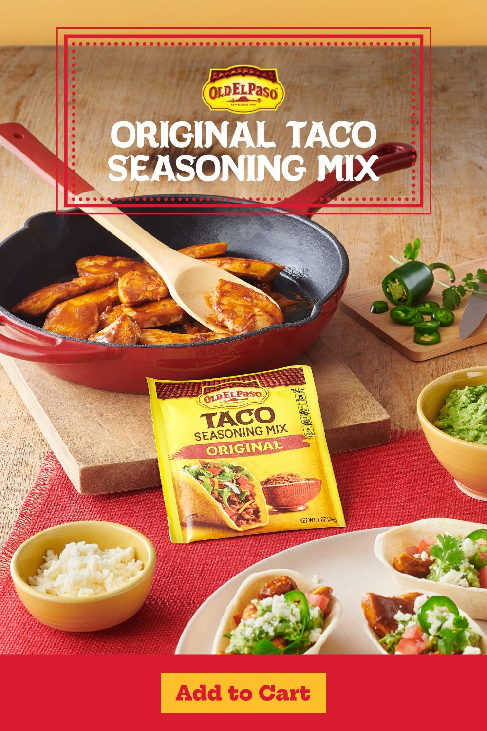 The Easiest Way To Spice Up Taco Night Taco Mix Seasoning Mexican Food Recipes Favorite Appetizers