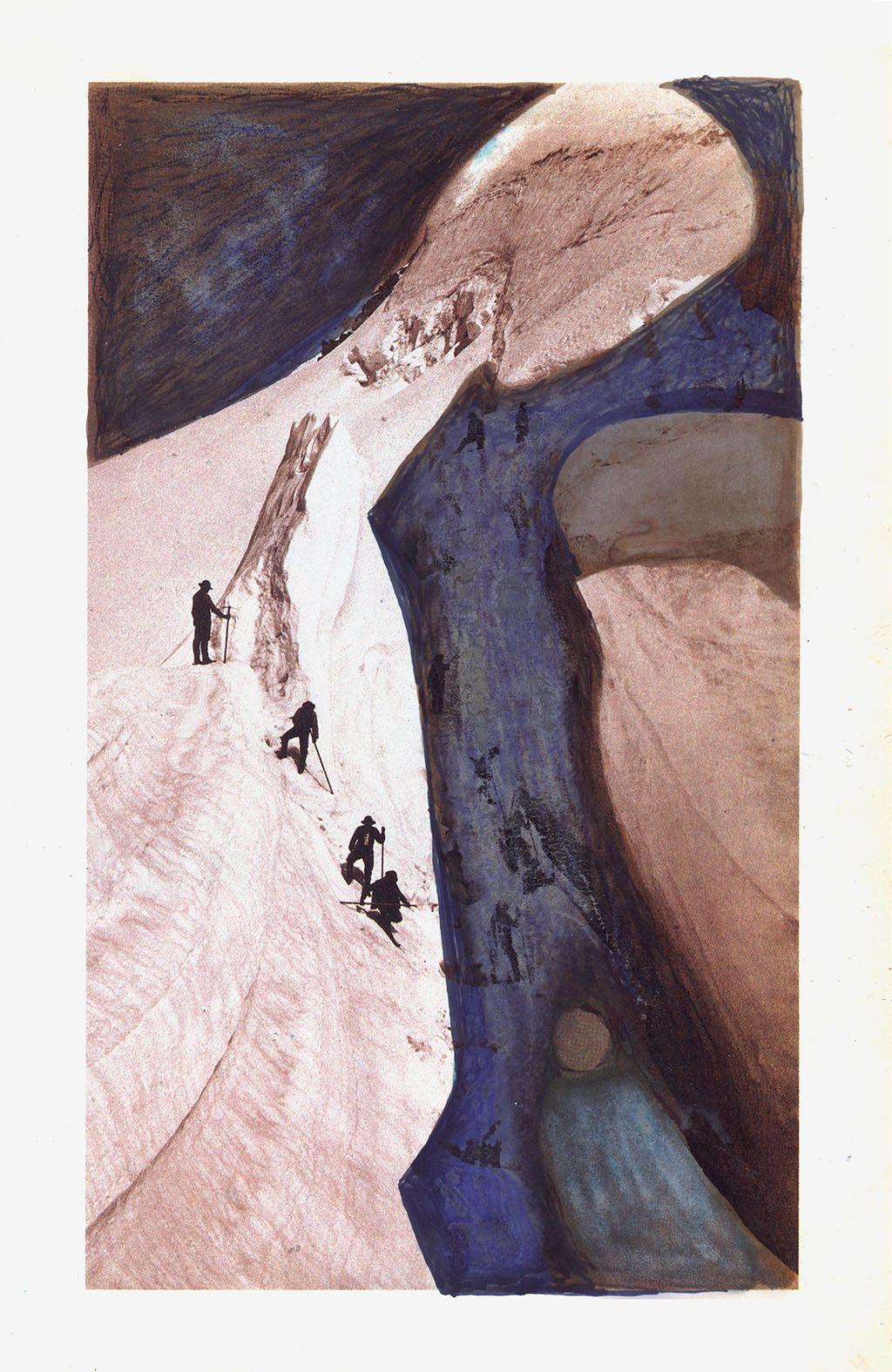 Mario Cesariny Ecce Ancilla Domini Sobre Fotografia De Bisson Freres Ascension Du Mont Blanc 1860 Colagem Da Serie Le Te Desenho Fotografia Inversao