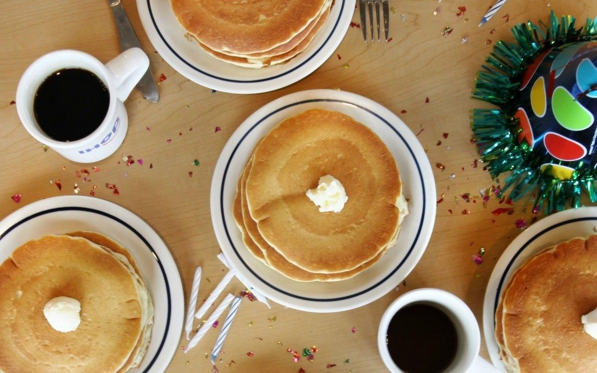 get 57 cent pancakes at ihop on tuesday and bogo krispy kreme