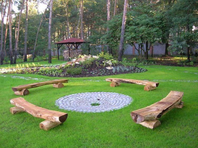 14 id es de foyers ext rieurs pour embellir votre jardin en ext rieur foyer jardin jardins - Foyer exterieur pour jardin ...