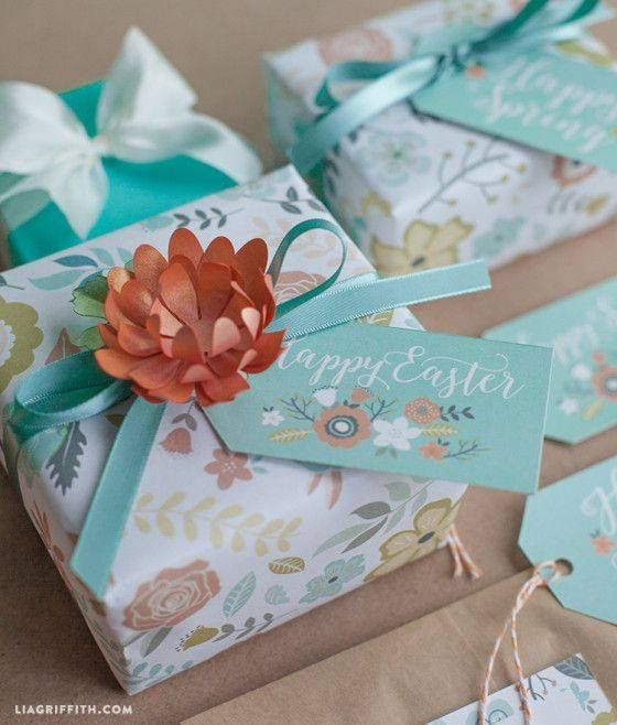 Pin by sara correia on ideas for home pinterest wrap your easter gifts in this free pretty printable wrapping paper and tags from lia griffith negle Gallery