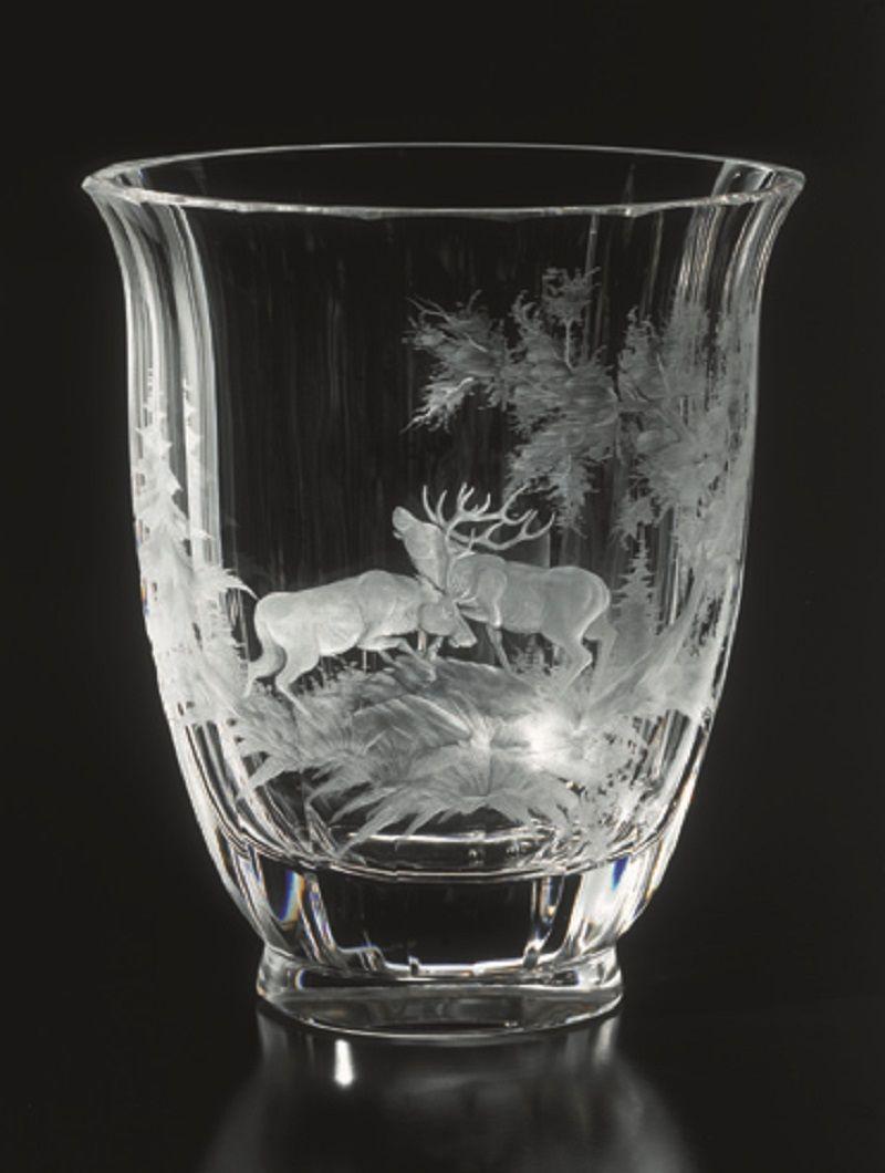 Gravures Sur Verre se rapportant à moser glass.vase | forest lnside | pinterest | art de la table, les