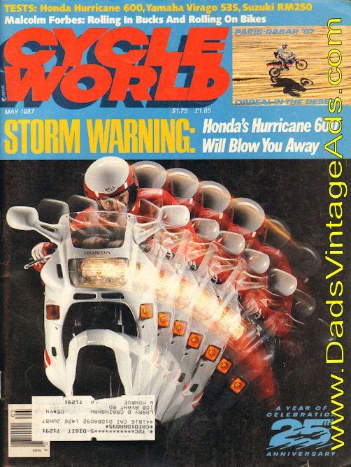 1987 honda hurricane 600 review