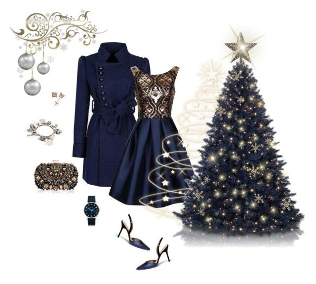 """""""Blue Christmas"""" by autumness-1 ❤ liked on Polyvore featuring moda, Sam Edelman, Chi Chi, Lipsy, Kim Rogers i Marc by Marc Jacobs"""