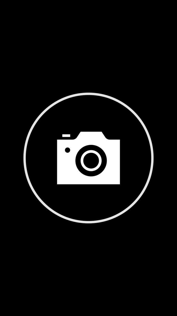 Logo Ig Hitam : hitam, Template, Aesthetic, Black, Tanda, Instagram,, Gambar,, Gambar, Simpel