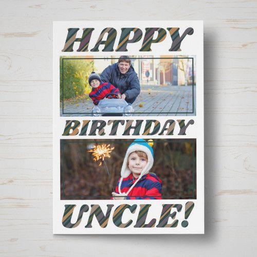 Personalised Uncle Birthday Card Personalised Greetings Cards