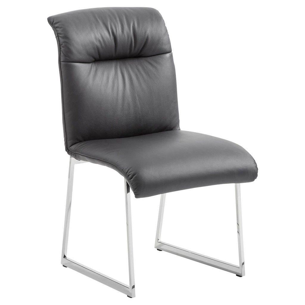 Entzückend Esstisch Stühle Leder Foto Von Stuhl Edelstahl Longlife-leder Silber, Schwarz Jetzt Bestellen