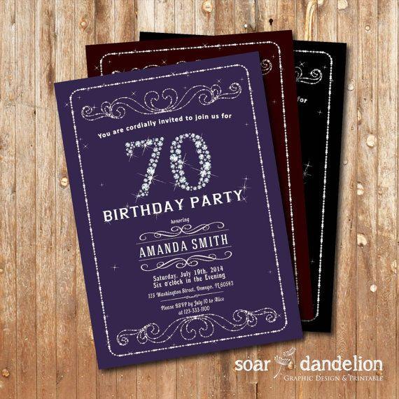 Elegant 70th birthday party invitation 30th 40th by soardandelion elegant 70th birthday party invitation 30th 40th by soardandelion 990 filmwisefo Gallery