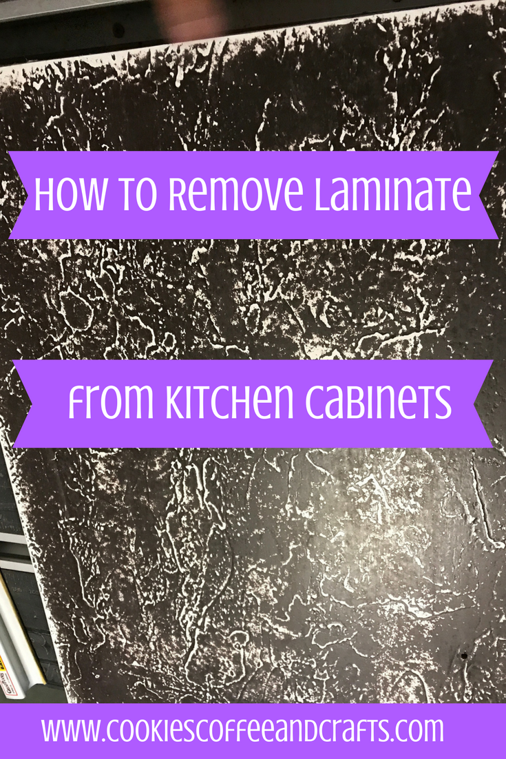 Removing Laminate From The Kitchen Cabinets Cookies Coffee And Crafts Laminate Kitchen Cabinets Kitchen Cabinets Update Cabinets