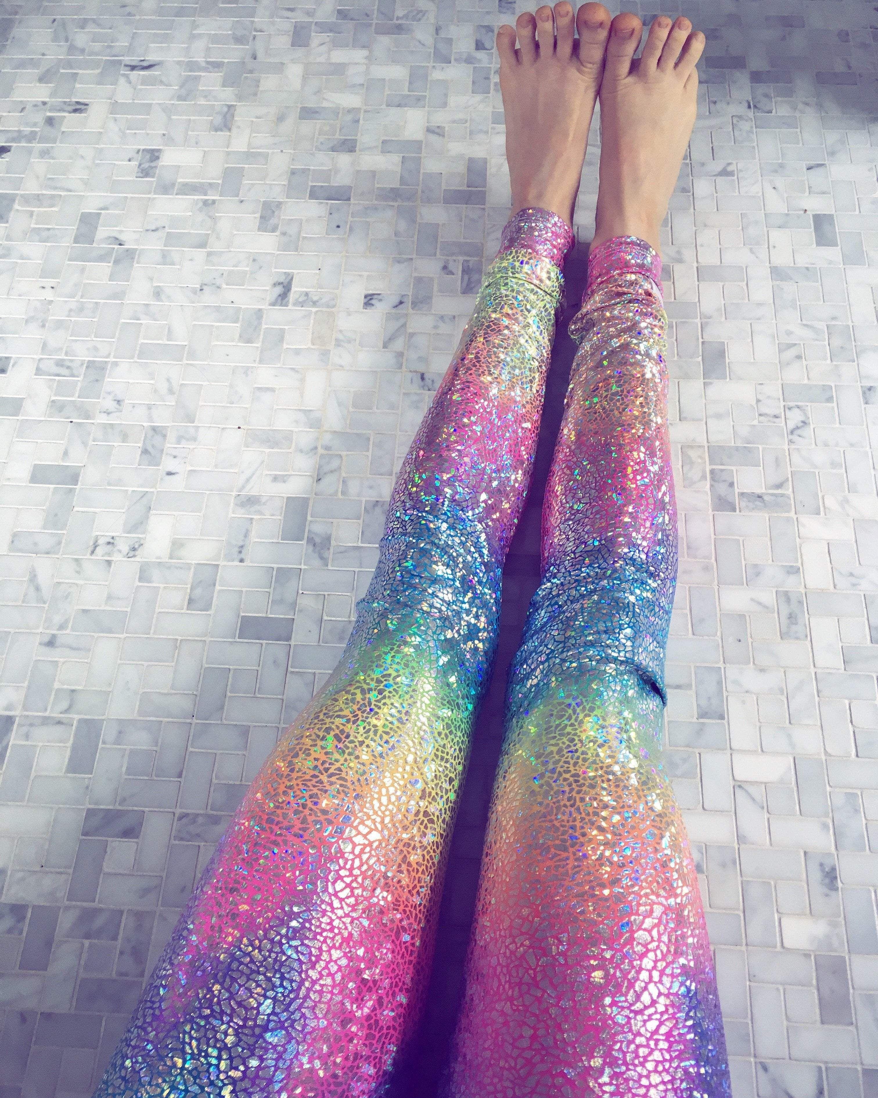 122bd48800d7c Ocean rainbow sparkle leggings | leggings | Sparkly leggings, Yoga ...