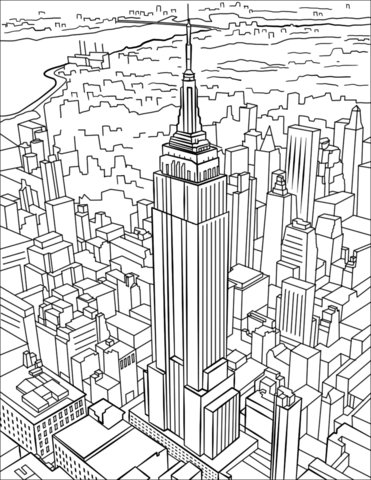 Empire State Building Coloring Pages The Empire State Building Is A 102 Storyart Deco Skyscra Train Coloring Pages Coloring Pages Spiderman Coloring