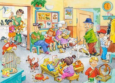 At the Vet (120 Piece Puzzle by Castorland)