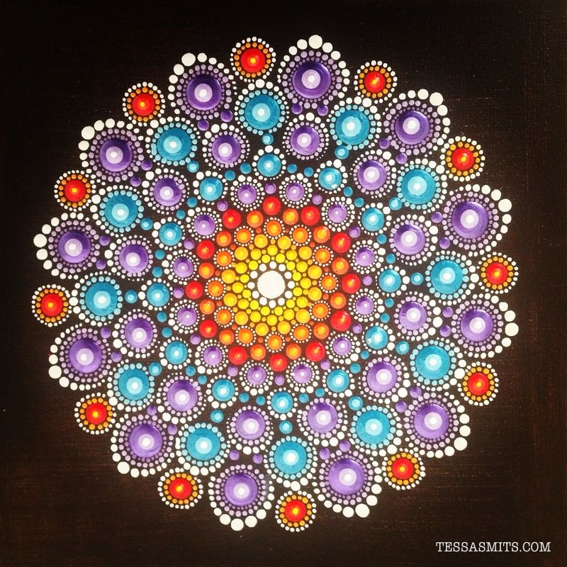Mandala Dot Painting On X Canvas