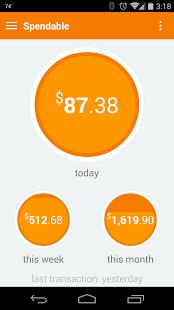 spendinghome page Finance app, App, Capital one