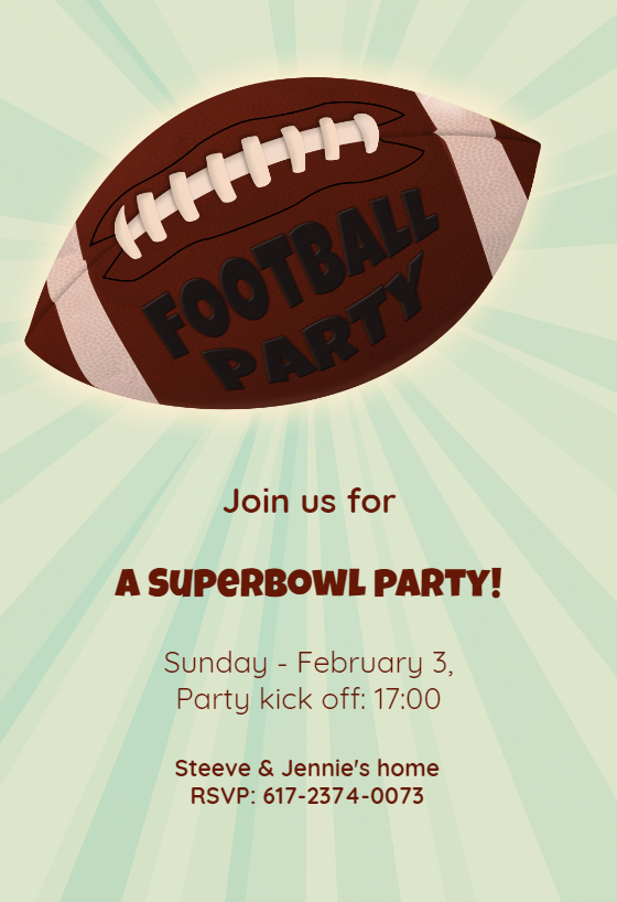 image regarding Super Bowl Party Invitations Free Printable identified as Soccer Superbowl Occasion\