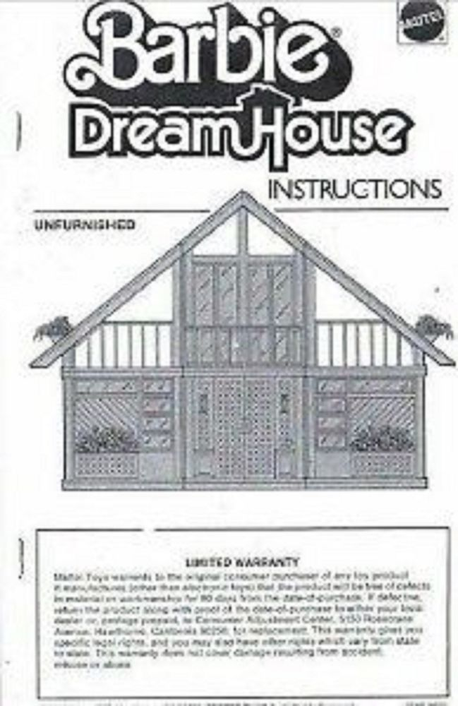 Children Barbie Dream House A Frame Dollhouse Build Instructions