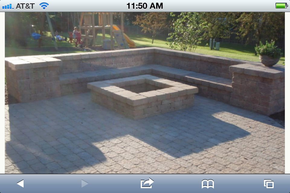 Like The Corner Square Fire Pit Idea Fire Pit Landscaping