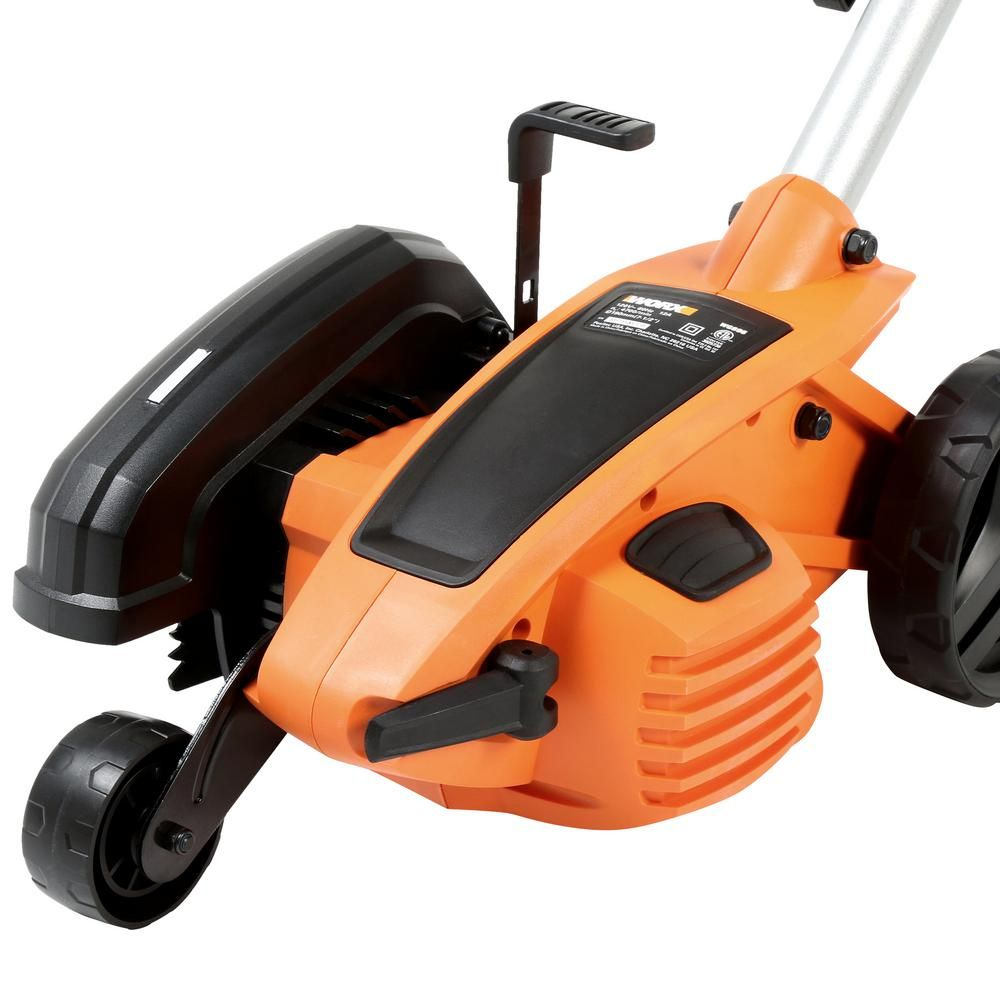 Worx 7 5 In 12 Amp Electric Lawn Edger Wg896 The Home Depot Lawn Edger Courtyard Gardens Design Lawn