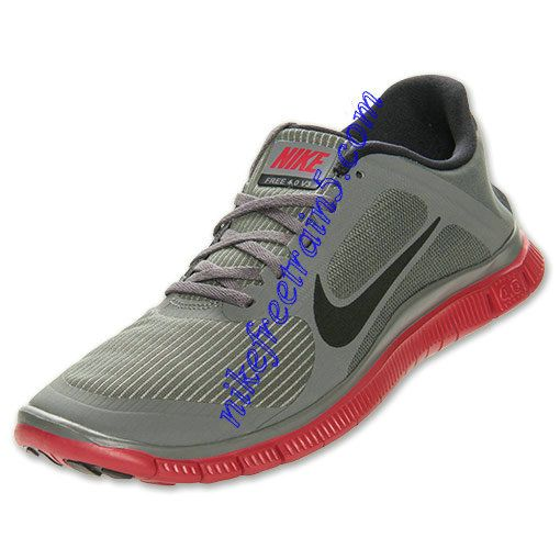 2febe2c00793e Nike Free 4.0 V3 Mens Mercury Grey Gym Red 579958 006