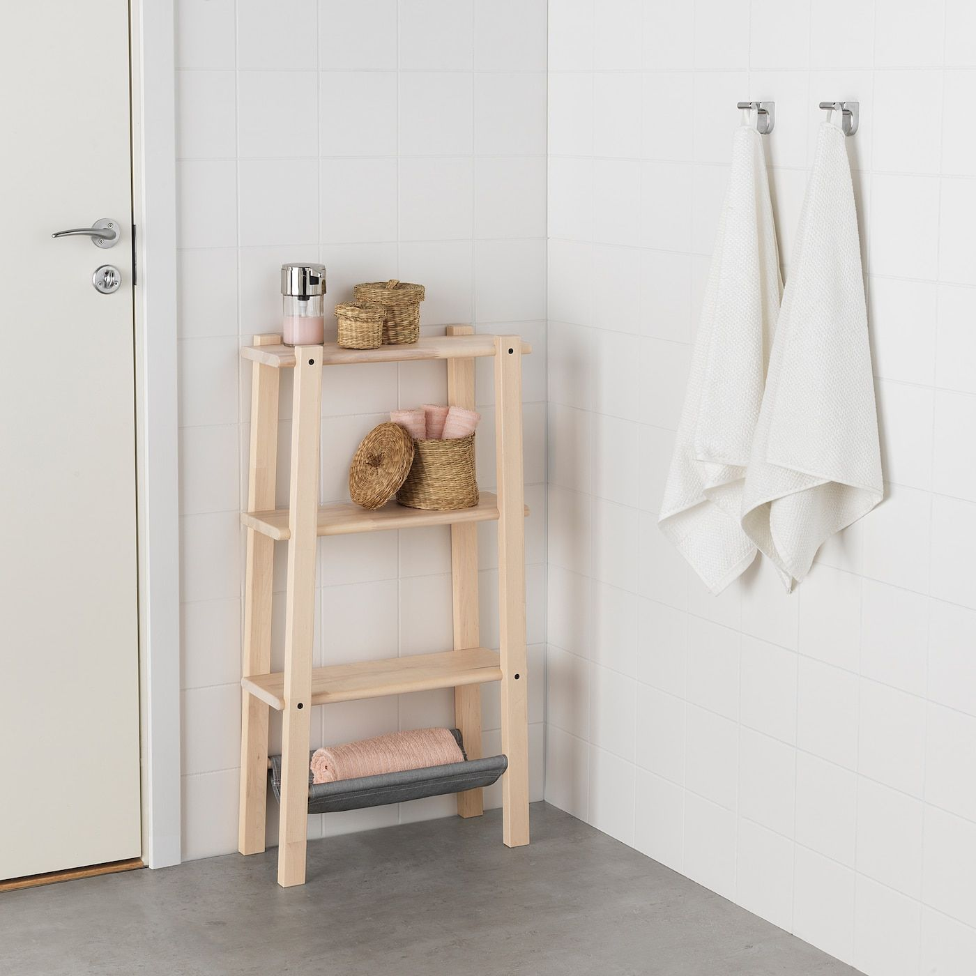 Ikea Vilto Birch Shelf Unit In 2020 Shelves Ikea Small Bathroom