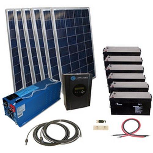 1440 Watt Off Grid Solar Kit With 6000 Watt Power Inverter Charger Solar Energy System Solar Projects Best Solar Panels